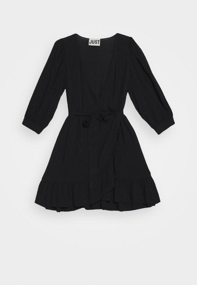 ELLERY WRAP DRESS - Denní šaty - black