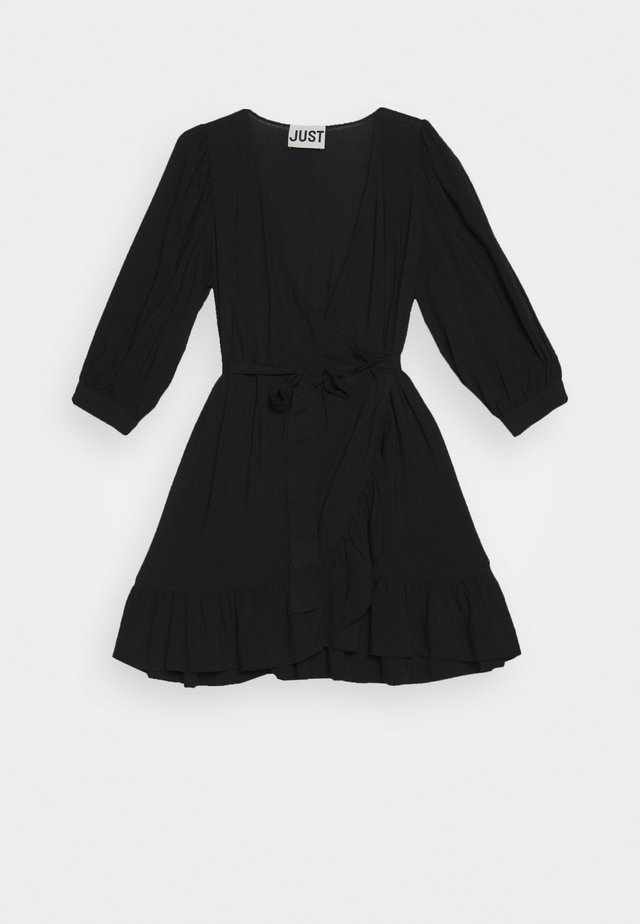 ELLERY WRAP DRESS - Korte jurk - black