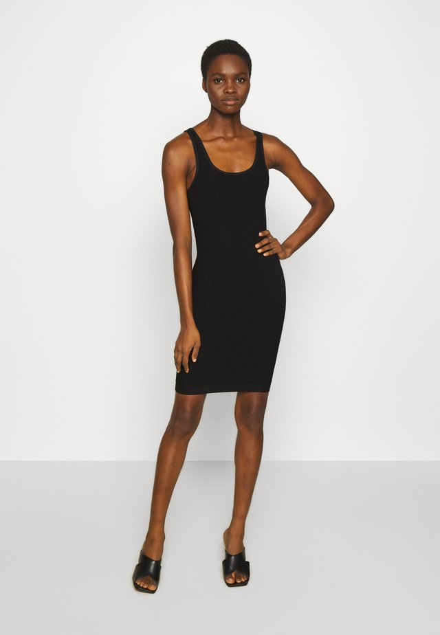 GREASE TUBE DRESS - Jerseyjurk - black