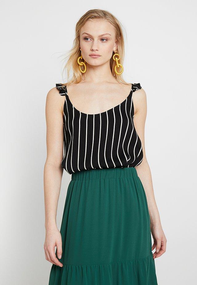 ANNA SINGLET - Bluse - black/white