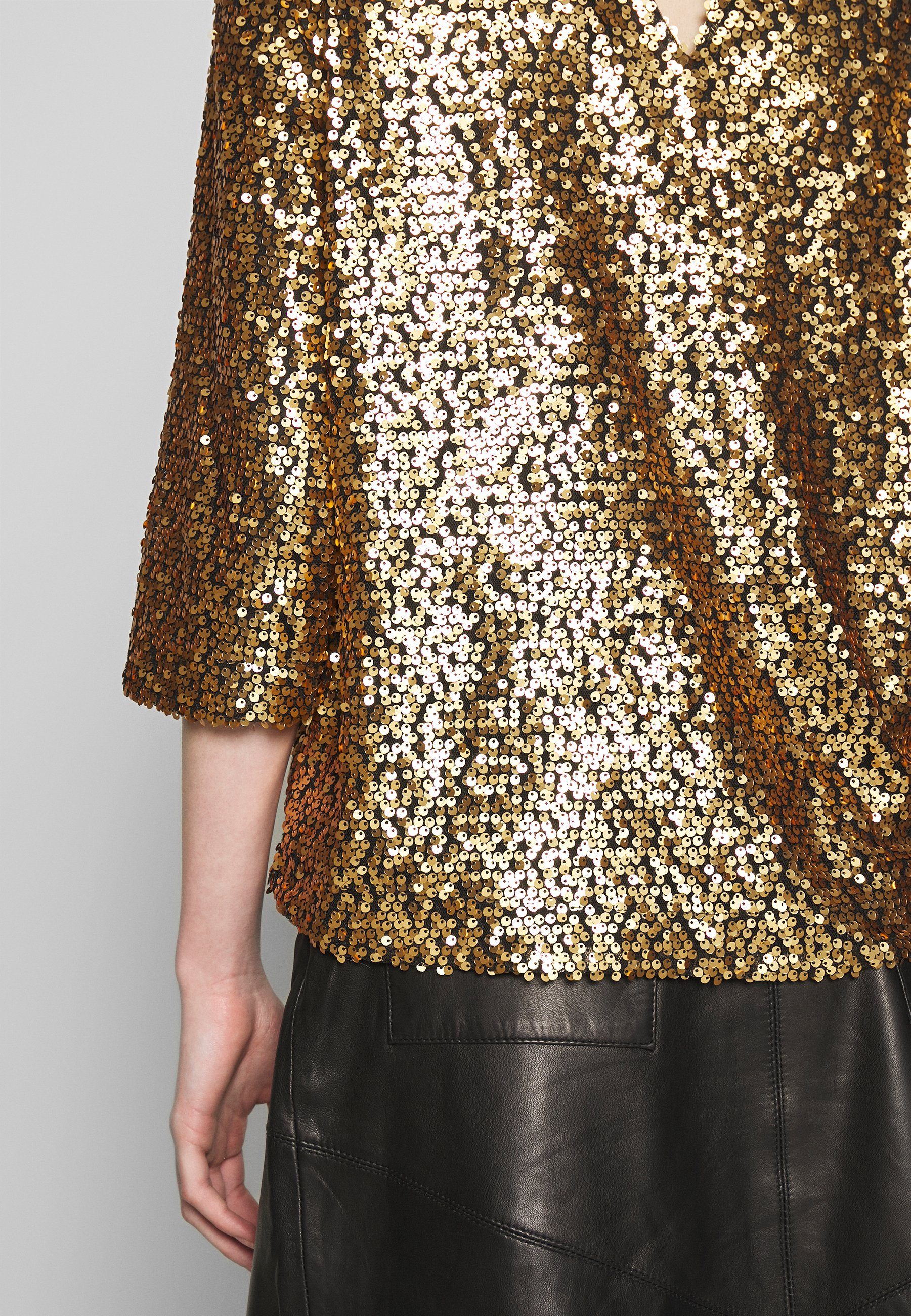 JUST FEMALE TROYE BLOUSE - Bluzka - troye gold