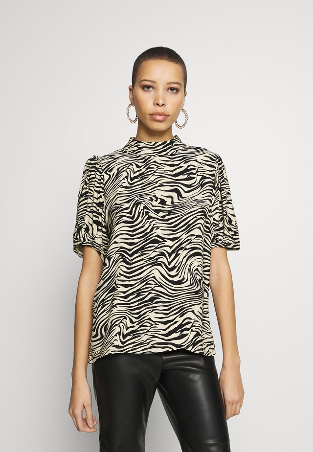 SEPHINA BLOUSE - Blouse - offwhite/black