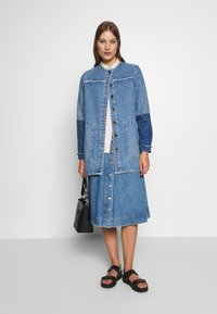 JUST FEMALE - NORMA JACKET - Denim jacket - blue denim - 1
