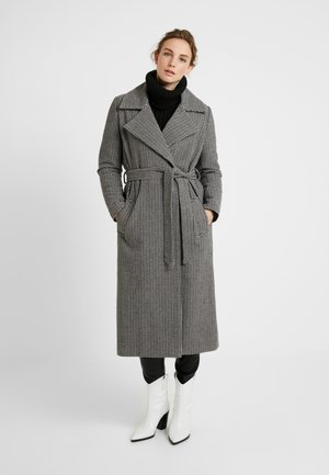KENZA COAT - Villakangastakki - black/white