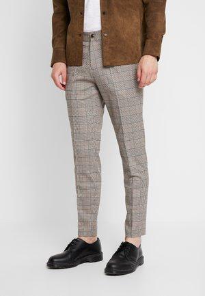 CHECK CLUB PANTS - Spodnie materiałowe - rust mix