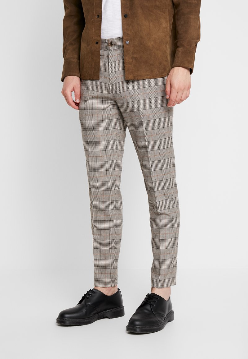 Junk De Luxe - CHECK CLUB PANTS - Kalhoty - rust mix