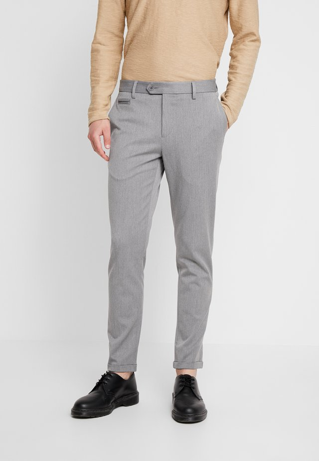 STRETCH CLUB PANTS - Trousers - grey melange