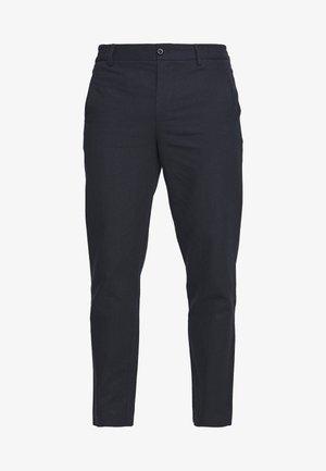 CROPPED PANTS - Spodnie materiałowe - navy