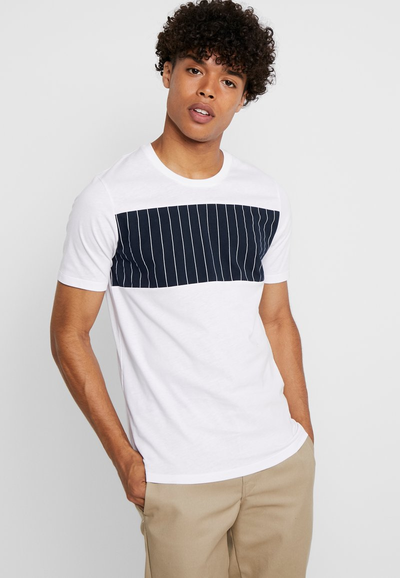 Junk De Luxe - BLOCK PANEL TEE - T-shirts print - white