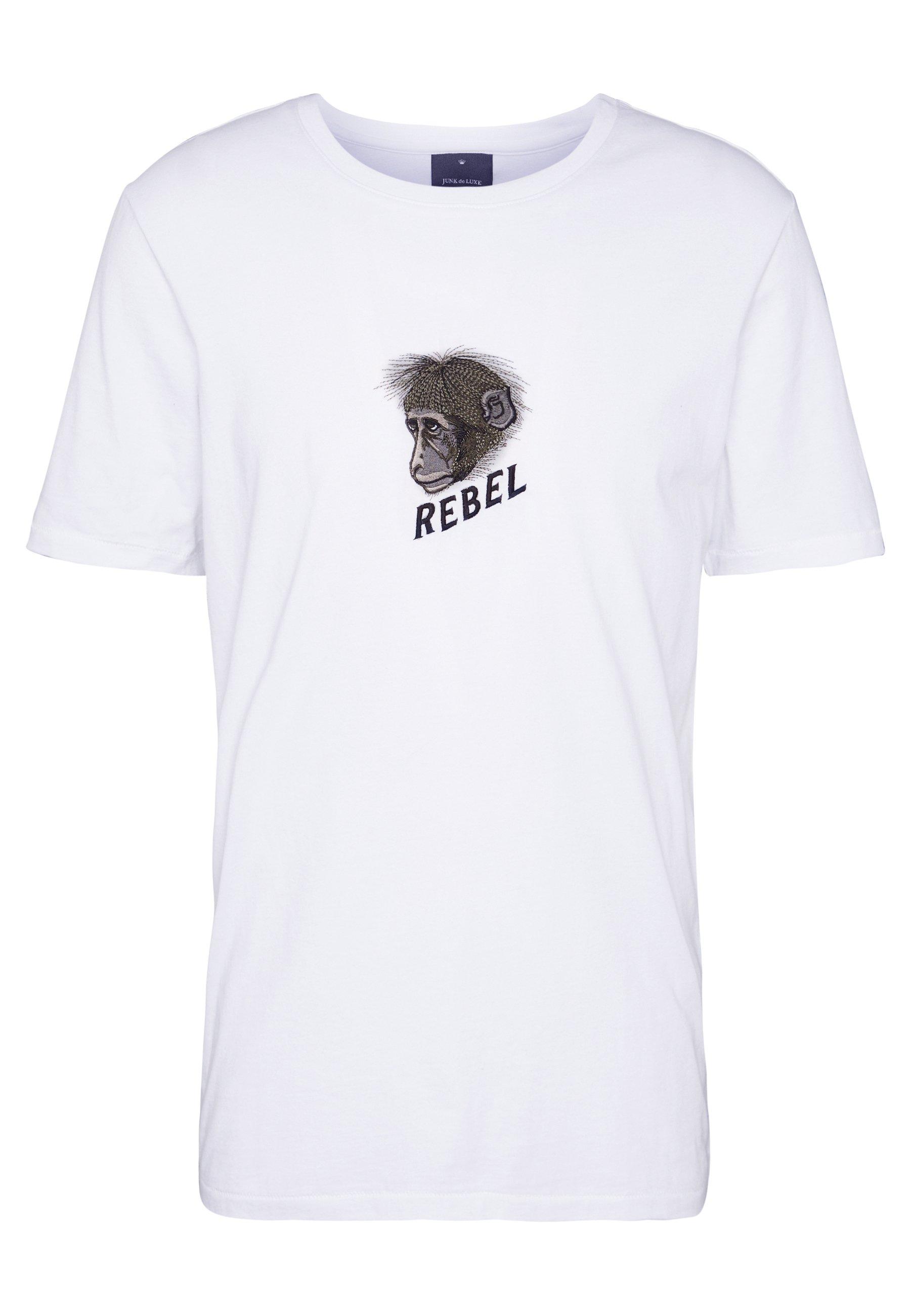 Junk De Luxe MONKEY ARTWORK TEE - T-shirt z nadrukiem - white