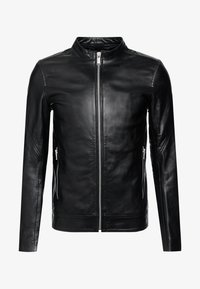 Junk De Luxe - RIDER JACKET - Leather jacket - black - 5