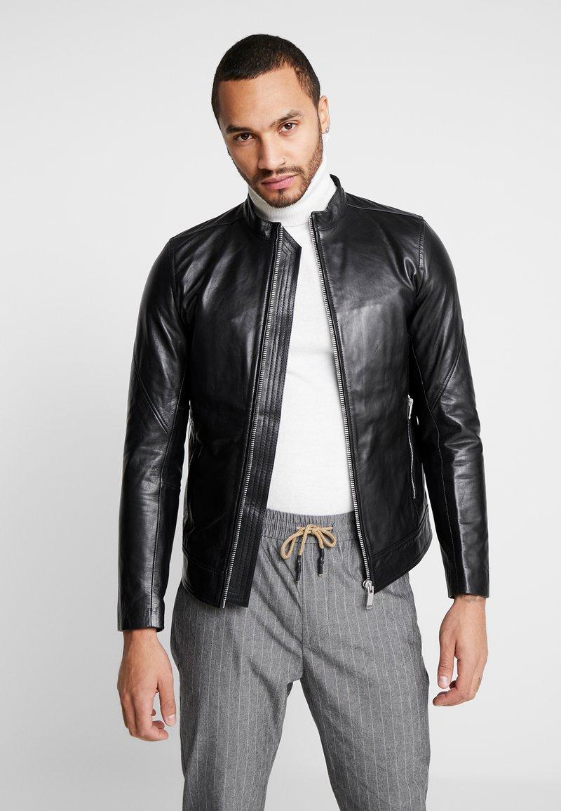 Junk De Luxe - RIDER JACKET - Leather jacket - black