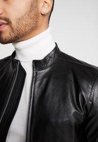 Junk De Luxe - RIDER JACKET - Leather jacket - black - 3