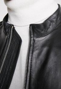 Junk De Luxe - RIDER JACKET - Leather jacket - black - 6