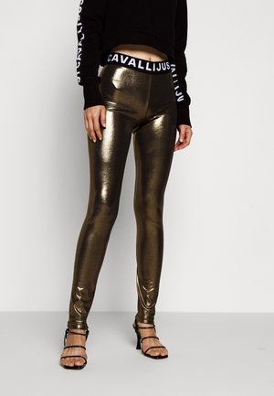 Leggings - Trousers - gold