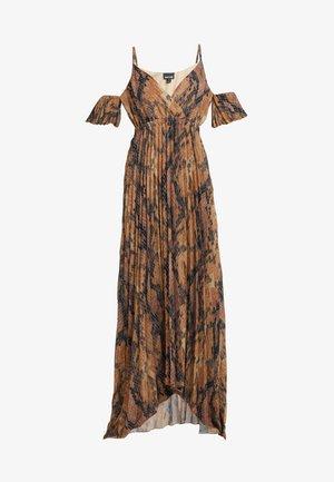 Maxi šaty - brown snake
