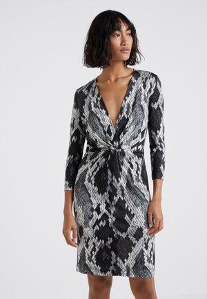 Jersey dress - black snake