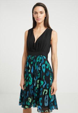Koktejlové šaty/ šaty na párty - black green