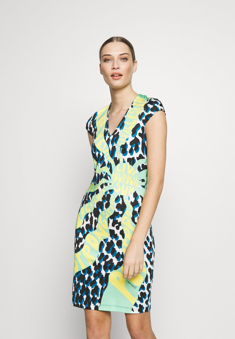 Just Cavalli - DRESS - Etui-jurk - uranus variant