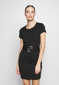 Just Cavalli - DRESS - Shift dress - black - 0