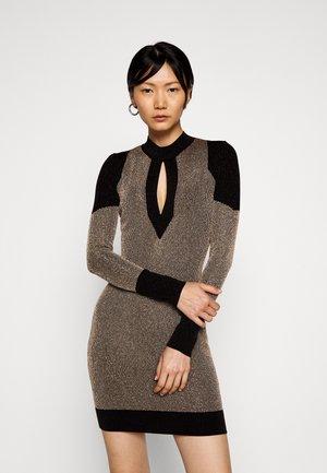 Shift dress - gold/black