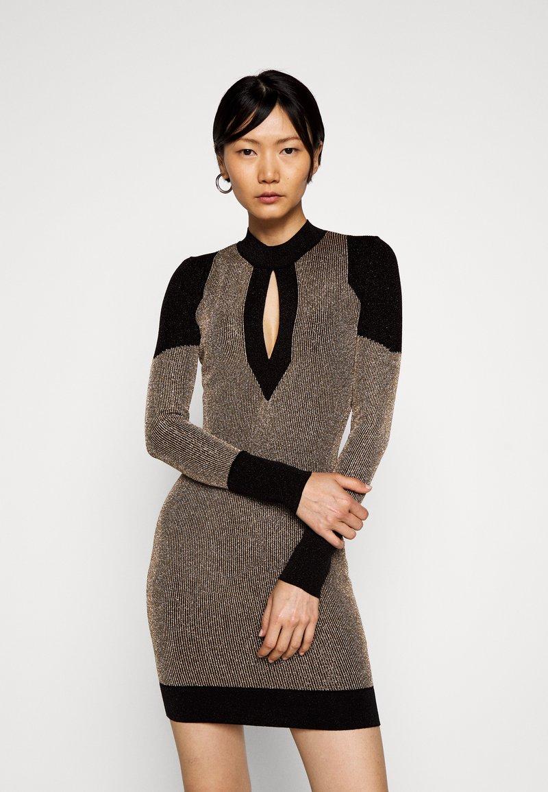 Just Cavalli - Shift dress - gold/black