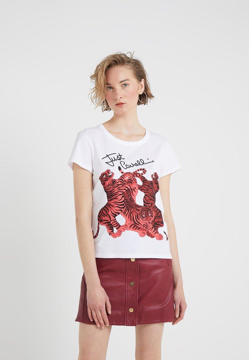 Just Cavalli - T-shirt z nadrukiem - white