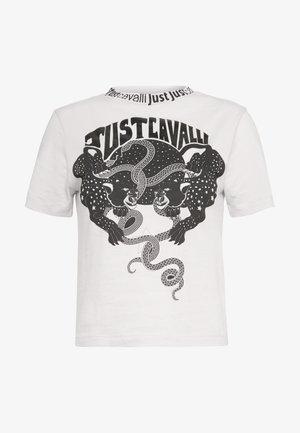 T-shirt print - off white/black