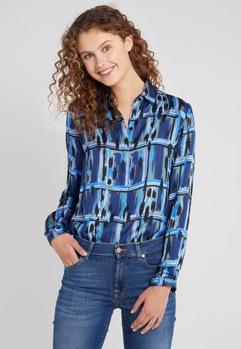 Just Cavalli - CAMICIA - Button-down blouse - blue