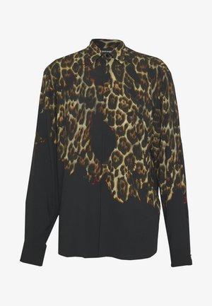 LEOPARD PRINT - Shirt - black