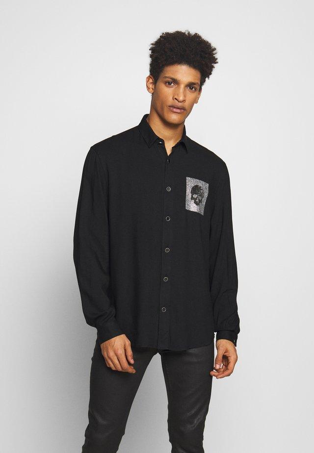 SHIRT SPARKLY SKULL - Košile - black