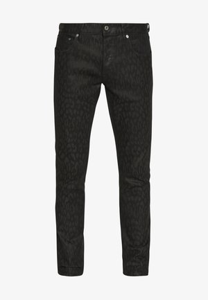ANIMAL PATTERN PANTS 5 POCKETS - Džíny Slim Fit - black
