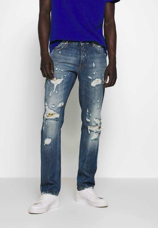 PANTS 5 POCKETS - Slim fit jeans - blue denim
