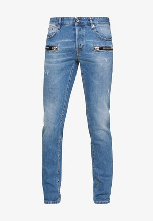 ZIPPER JEANS - Jeans slim fit - blue denim