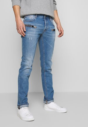 ZIPPER JEANS - Jeansy Slim Fit - blue denim