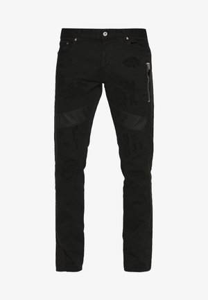 STRIPE PANTS - Džíny Slim Fit - black