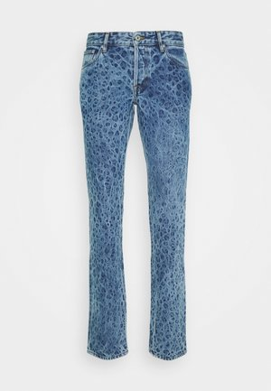 PANTS 5 POCKETS ANIMAL PRINT - Slim fit jeans - blue denim