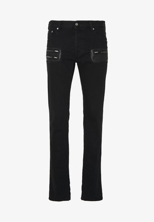 PANTS POCKETS BIKER - Jeans slim fit - black