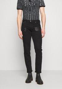 Just Cavalli - PANTS POCKETS BIKER - Slim fit jeans - black - 0