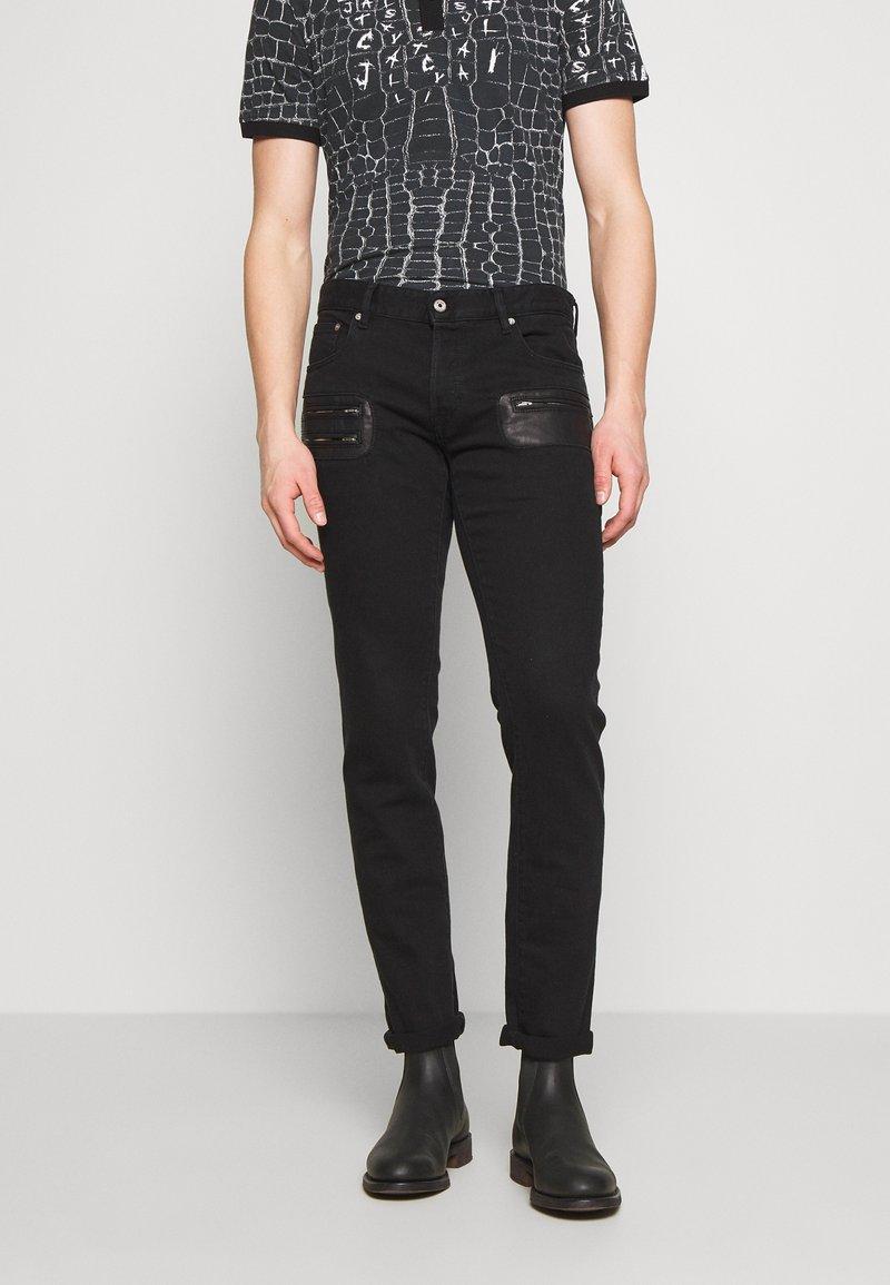 Just Cavalli - PANTS POCKETS BIKER - Slim fit jeans - black