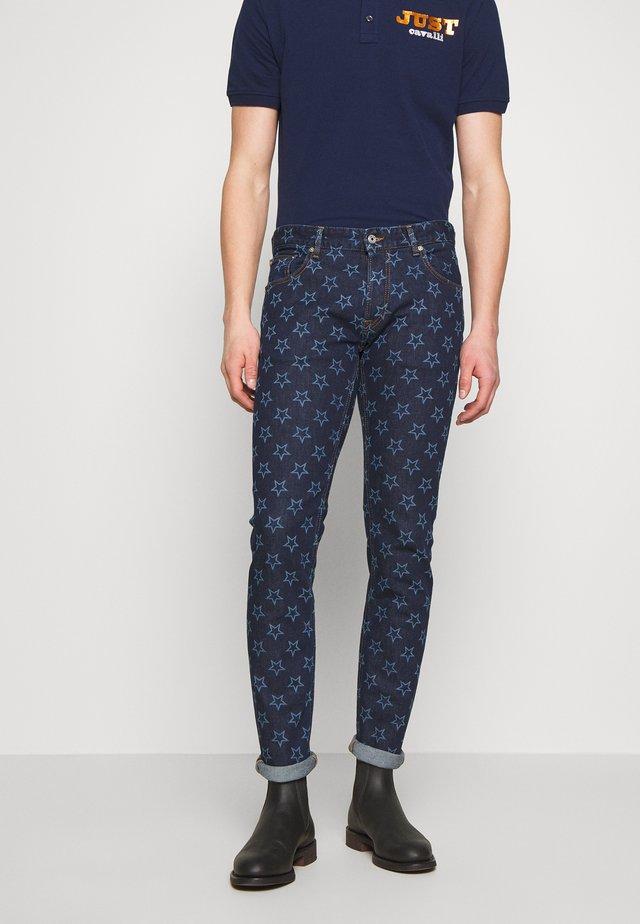 PANTS POCKETS STARS - Jeans slim fit - blue denim
