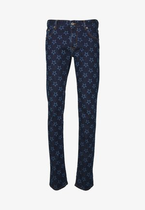 PANTS POCKETS STARS - Slim fit jeans - blue denim