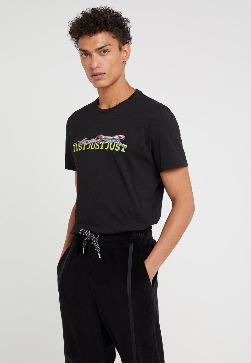 Just Cavalli - T-shirt med print - black