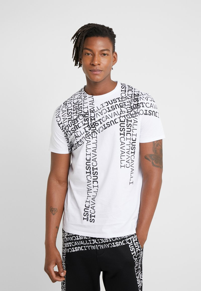 Just Cavalli - T-shirt med print - white