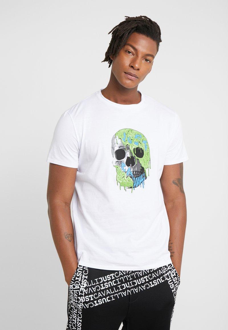 Just Cavalli - T-shirt med print - white