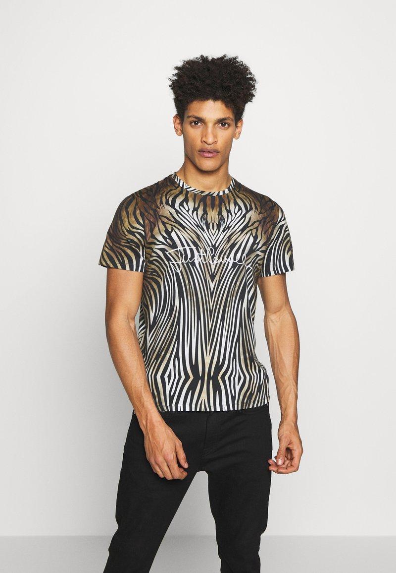 Just Cavalli - ANIMAL - T-shirt con stampa - black/brown
