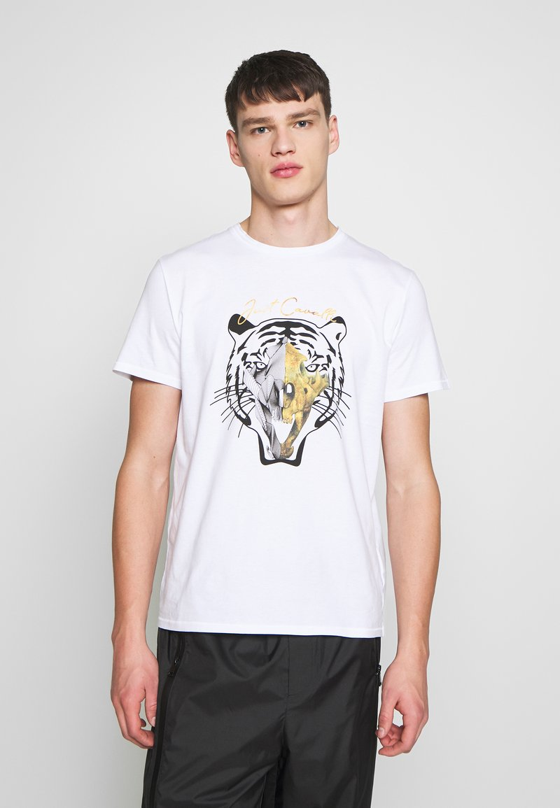 Just Cavalli - TIGER  - T-Shirt print - white