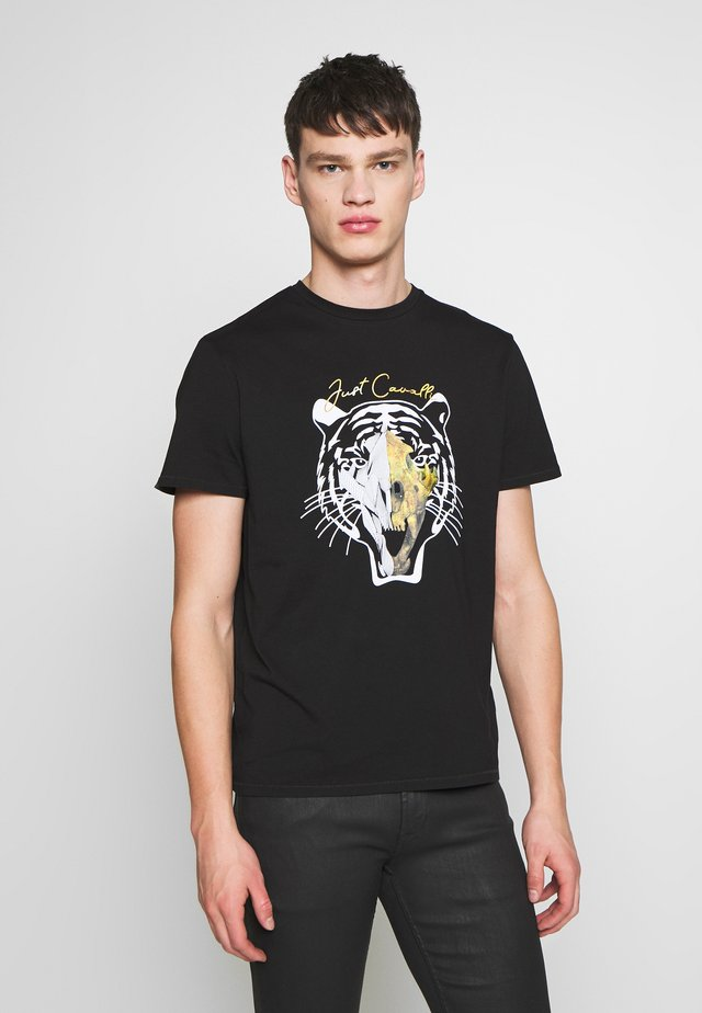 TIGER  - T-shirt med print - black