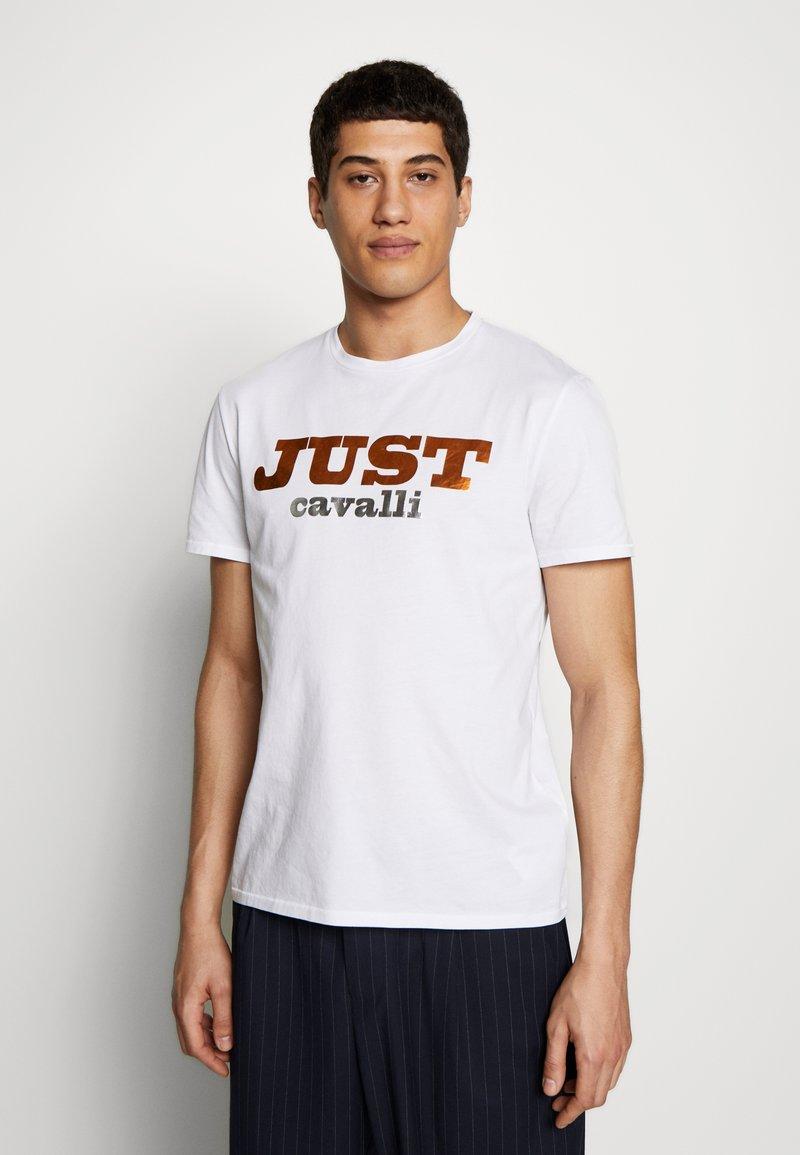 Just Cavalli - LOGO - Print T-shirt - white