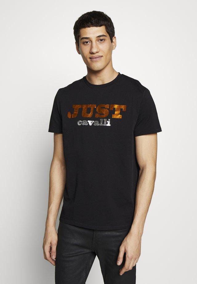 LOGO - T-shirt med print - black